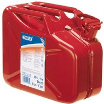 Draper Steel Fuel Can 10L - Red
